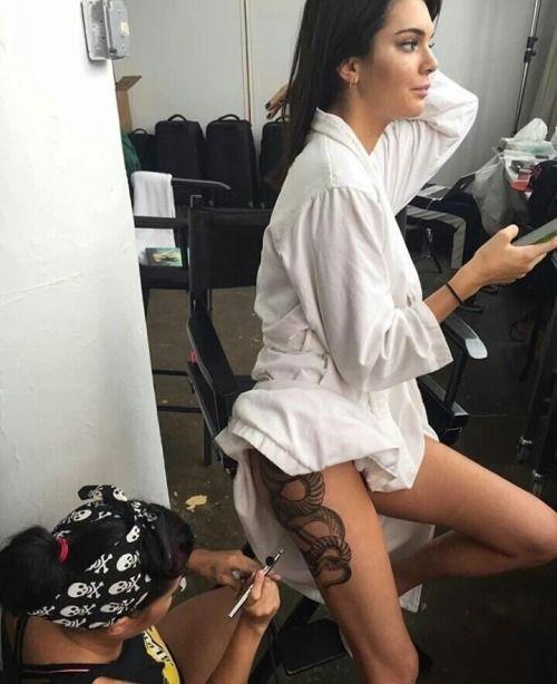 kendall jenner thigh tattoo