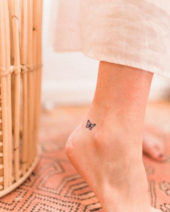 mini ankle tattoos for women
