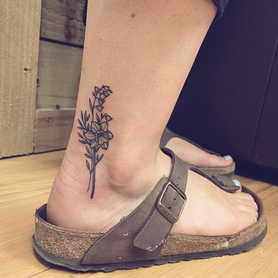 simple ankle tattoos for girls